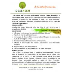 ÓLEO DE NIM - Flores, Plantas, Frutas e Hortaliças - 100ML